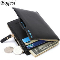 Men's Luxury Soft Leather Wallet ID Credit Card Holder Bifold Coin Purse Pockets