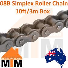 "INDUSTRIAL ROLLER CHAIN 08B-1 - 1/2"" PITCH SIMPLEX 10Ft 3m Box 08B"
