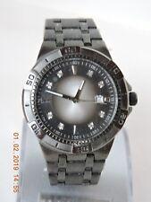 Relic unisex's black tone silver2black dial crystal markers quartz watch ZR77152