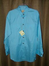 ee334f3f Stubbs Turquoise Blue Long Sleeve Western Shirt NWT Star Buttons Size L