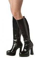 California Costumes Womens Sexy Black Patent Platform Boots Small 5-6