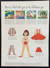 Vintage Betsy McCall Mag. Paper Doll, Betsy Goes to the Children's Zoo, May 1958