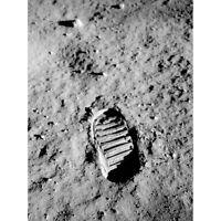 Apollo 11 Bootprint Astronaut Aldrin 50th Anniversary Moon Landing Canvas Poster