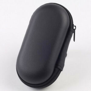 New Storage Bag Hard Hold Black Case For Earphone Headphone Earbuds Mp3 Cable