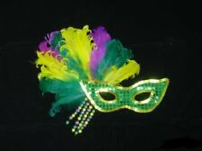 EYEMASK: FEATHER WITH BEAD