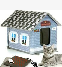 HEATED PET HOUSE PETYELLA with Timer Blue/Grey