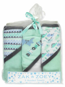 Zak & Zoey Baby Boys Hooded Towels 3-pack BRAND NEW!!!!!
