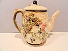 "MAJOLICA TEA POT  WEDGWOOD BLACKBERRY TEAPOT - 7-1/2"" Tall Antique"