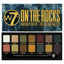W7 On The Rocks Palette - Eyeshadow Matte Shimmer Browns Nudes Berry Colours Eye