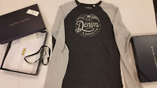 Genuine Denim & Supply Ralph Lauren Custom Slim Cotton Grey/ charcoal Polo shirt