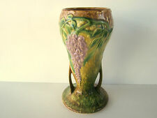 """Roseville Wisteria Vase 8.5"""" tall Cir. 1933 #635-8 Excellent Authentic Vintage"""