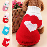 New Winter Warm Dog Soft Sweater Suitable Pet Clothes Sweater Knitwear Acrylic