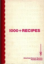 CLEARWATER FL 1979 AMERICAN CANCER SOCIETY 1000+ RECIPES COOK BOOK FLORIDA RARE