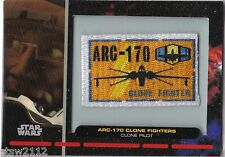 STAR WARS GALACTIC FILES PR-16 EMBROIDERED PATCH ARC-170 CLONE FIGHTERS PILOT