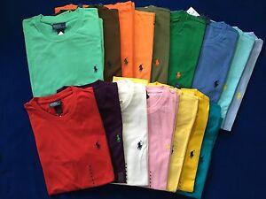 NWT Ralph Lauren Short Sleeve Crew Neck Tee T-Shirt Size S, M, L, XL, XXL