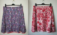 New ex White Stuff Gemini Reversible Skirt Size 8-18 Red Purple