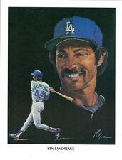 1982 Los Angeles Dodgers Union 76 Oil Print: Ken Landreaux