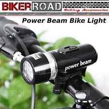 BIKER ROAD- 5 LED Multifunctional Bike Head Light- LED Warning Light- BLACK