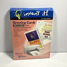 invent it Greeting Cards For Ink Jet Printer 03013-0 Matte Finish