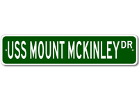 USS MOUNT MCKINLEY LCC 7 Ship Navy Sailor Metal Street Sign - Aluminum
