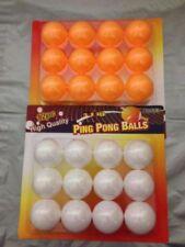 24 Table Tennis Balls Ping Pong 40mm White Orange Plastic UK SELLER