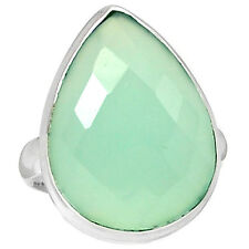 Aqua Chalcedony 925 Sterling Silver Ring Jewelry S.8.5 ACFR56