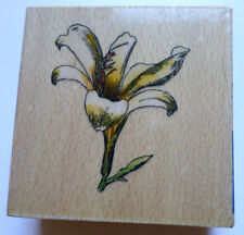 Whispers Sugar Loa Products Garden Botanical Flower Lilly Wooden Rubber Stamp