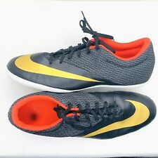 Nike Mens Mecurial X Pro IC Indoor Soccer Shoes size 13 red black gold