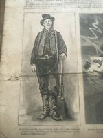RARE photo BILLY THE KID Illustrated Police News June 1881 newspaper HOLY GRAIL