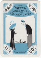 Playing Cards Single Card Old Wide MECCA DANCE HALLS Advertising Art Jazz Band 1