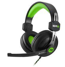 Sharkoon rush er2 stéréo casque écouteurs noir/vert support de tête Gaming-NEUF