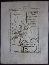 1719 INDIE MODERNE map Mallet Thailand Myanmar Cambodia Laos Vietnam Bangladesh