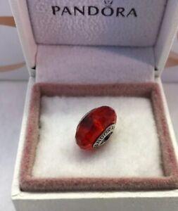 "Pandora, "" Fascinating Red""  S925ale Murano Glass Charm  # 791066,  M1"