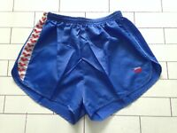MENS VINTAGE RETRO BLUE SPRINTER OLD SCHOOL HIGH CUT SHORTS SIZE L-XL (120)