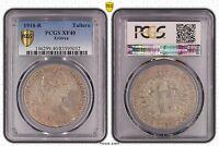 ERITREA ITALIAN COLONY RARE SILVER TALLERO COIN 1918 YEAR KM#5 GRADING PCGS XF40