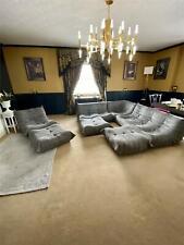 Ligne Roset Togo Grey Modular Corner Sofa Set including extra footstools