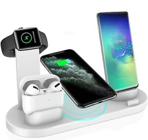 4 in 1 Wireless charger Charging Station Dock For iPhone Series 12 11 X iWatch