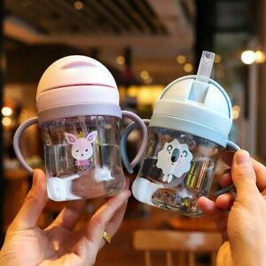 Proof Learning Drinking Cup Cartoon Feeding Bottles Plastic Children Water Cups