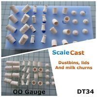 Dutbins and Churns Mould -  DT34 - OO Gauge - For Model Railway Scenery