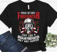Gift For Firefighter Retired Dad Mom Funny Christmas T-shirt