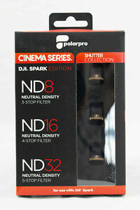 PolarPro Cinema,Shutter 3 filter set for DJI Spark drone, ND8, ND16, ND32