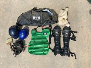Baseball Catcher's Complete Gear - Mask, Helmet, Chest, Legs, More
