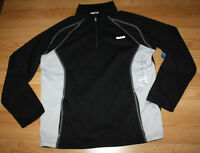 NWT Mens REEBOK Black Gray Fleece 1/4 Zip Polyester Jacket Coat Size M Medium