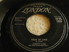 JOHNNY CASH 45 Next In Line / Don't Make Me Go 1957 UK London HL-7020 Tenn. Two