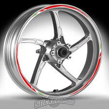 Adesivi ruote moto per APRILIA SHIVER  - strisce RACING 7 cerchi stickers