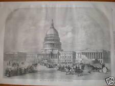 USA Washington Capitol Building 1859 engraving
