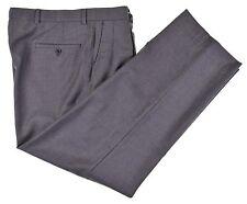 Harry Rosen Menswear Mid Gray 140's WOOL CASHMERE Dress Pants Business Slacks 36
