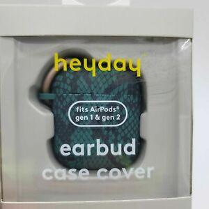 heyday Airpod Case - Snake Skin Print Green