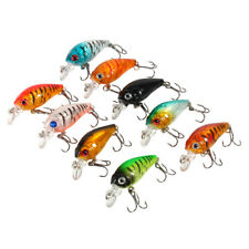 9 MICRO 3D PLUGS JERK CRANK PLUG BAIT SPINNING LURES SNAP BEAN PIKE PERCH TROUT