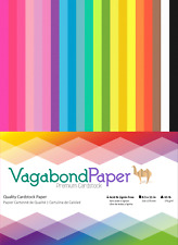 "Over 100 Sheets! 8.5"" x 11"" Premium CARDSTOCK PAPER - 21 Bright Rainbow Colors"